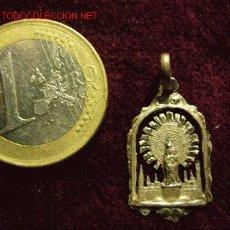 Antigüedades: MEDALLA RELIGIOSA ANTIGUA DE PLATA, VIRGEN DEL PILAR. Lote 26936230