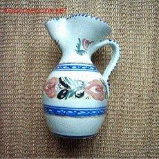 Antigüedades: JARRA DE CERÁMICA DE PUENTE DEL ARZOBISPO FIRMADA: CRUZ. 21 CM. . Lote 23377282
