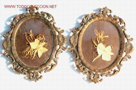 pareja de marcos ovales de metál dorado pp. s. - Comprar Cornucopias ...