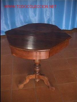 MESA DE JUEGO NOGAL (Antigüedades - Muebles Antiguos - Mesas Antiguas)