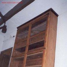 Antigüedades: MESA VITRINA DE TRABAJO DE FARMACEUTICO SXIX. Lote 27617730
