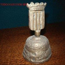 Antigüedades - CAMPANILLA BRONCE ESCUDO - 10788594