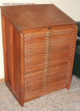 Mueble De Imprenta Comprar Mesas De Despacho Antiguas En Todocoleccion  Muebles Antiguos