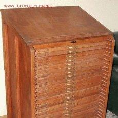 Antigüedades: MUEBLE DE IMPRENTA. Lote 2666044