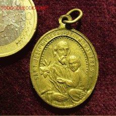 Antigüedades: MEDALLA ANTIGUA DE SAN JOSÉ. Lote 27341077