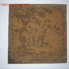 Antigüedades: ANTIGUO TAPIZ CON MARCO, MEDIDAS 47 X 47 CM. . Lote 26556059
