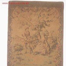 Antigüedades: ANTIGUO TAPIZ CON SU MARCO, MEDIDAS 62 X 90 CM. . Lote 27254667