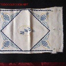 Antigüedades: BOLSA PARA PAN. LINO BORDADO A MANO (AÑOS 30). Lote 26899789
