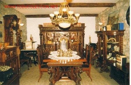 Delightful Comedor En Madera De Caoba Cubana Y Nogal Negro Comprar For Muebles  Clasicos Caoba
