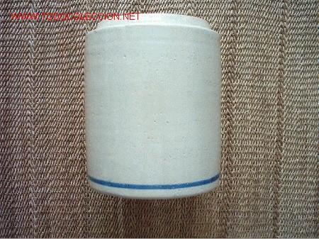 TARRO DE COCINA DE CERÁMICA DE TRIANA (SEVILLA). 17 X 14 CM. AÑOS 60 (Antigüedades - Porcelanas y Cerámicas - Triana)