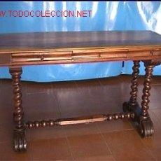 Antigüedades: ESCRITORIO NOGAL SXIX. Lote 27617736