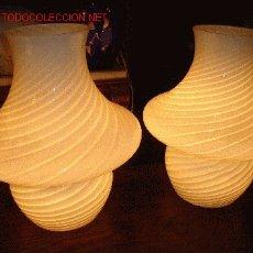 Antigüedades: LAMPARAS DE MESA DE MURANO AÑOS 70.. Lote 17468738