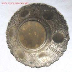 Antigüedades: BANDEJA DE ALPACA CON LABRADOS. Lote 21744331