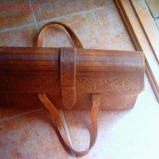 Antigüedades: ANTIGUA MALETA DE CUERO * MAS DE 100 AÑOS DE ANTIGUEDAD *. Lote 8698856