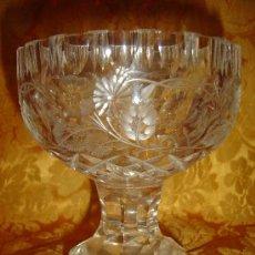 Antigüedades: COPA EN CRISTAL TALLADO ANTIGUA. Lote 3047711