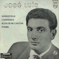 Discos de vinilo: JOSÉ LUIS : MARIQUILLA...EP 1958 PHILIPS VINILO ROJO. Lote 9718722