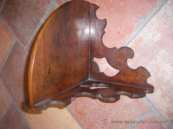 Antigüedades: PEQUEÑA RINCONERA EN CAOBA. ESPAÑA, S.XX. - Foto 3 - 10488836