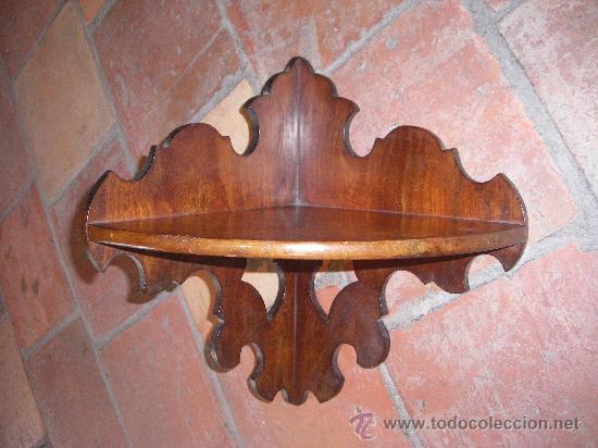 Antigüedades: PEQUEÑA RINCONERA EN CAOBA. ESPAÑA, S.XX. - Foto 4 - 10488836