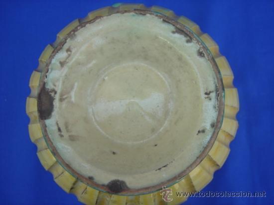 Antigüedades: JARRA DE PUENTE DEL ARZOBISPO, DE MOTIVOS CINEGÉTICOS, PINTADA A MANO. ALTURA: 21 CMS. - Foto 9 - 26551442