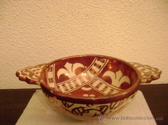 MANISES.ESCUDILLA EN REFLEJO METALICO (Antigüedades - Porcelanas y Cerámicas - Manises)