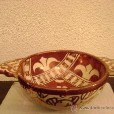Antigüedades: MANISES.ESCUDILLA EN REFLEJO METALICO. Lote 27296856