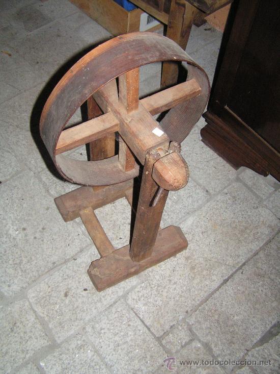 Antigüedades: Rueda de Hilar - Foto 2 - 27313016