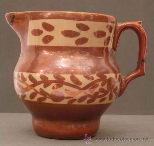 JARRA CERÁMICA REFLEJO METÁLICO MANISES S XIX (Antigüedades - Porcelanas y Cerámicas - Manises)