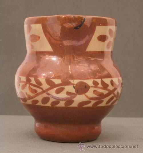 Antigüedades: Jarra cerámica reflejo metálico Manises S XIX - Foto 3 - 9911741