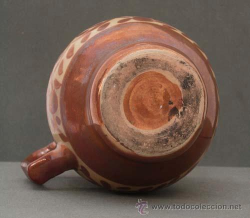 Antigüedades: Jarra cerámica reflejo metálico Manises S XIX - Foto 5 - 9911741