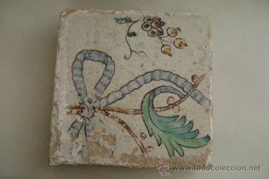 AZULEJO VALENCIANO SIGLO XVIII (Antigüedades - Porcelanas y Cerámicas - Azulejos)