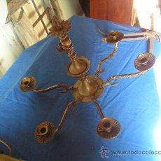 Antigüedades: LÁMPARA DE BRONCE PARA RESTAURAR . Lote 26351612