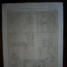 Antigüedades: GRABADO FINALES SIGLO XIX GRAN FORMATO. ROMÁNICO. EDAD MEDIA. MUSEO ESPAÑOL DE LAS ANTIGÜEDADES. Lote 10036846