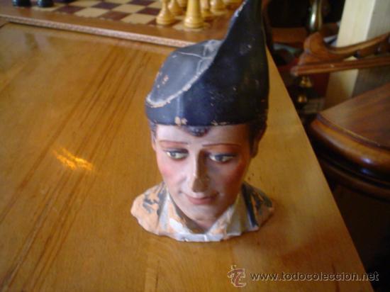 FINA CABEZA DE BARRO (Antigüedades - Hogar y Decoración - Otros)