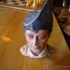 Antigüedades: FINA CABEZA DE BARRO. Lote 26765534