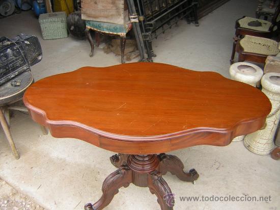Mesa madera de caoba comprar mesas antiguas en for Mesa madera antigua