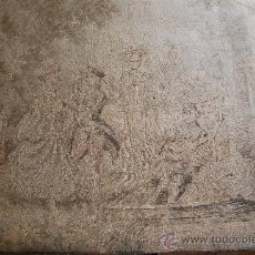Antigüedades: TAPIZ ANTIGUO - ESCENA ROMÁNTICA 144CM X 100CM. Lote 27642609