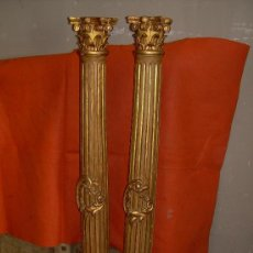 Antigüedades: LOTE DE 4 COLUMNAS EXTRIADAS CON ROCALLAS. Lote 10159753