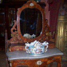 Antigüedades: TOCADOR FINALES DEL S.XIX CON PORCELANA DE SEVRES. Lote 27140562