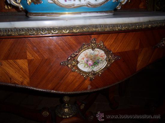 Antigüedades: tocador finales del s.xix con porcelana de sevres - Foto 2 - 27140562