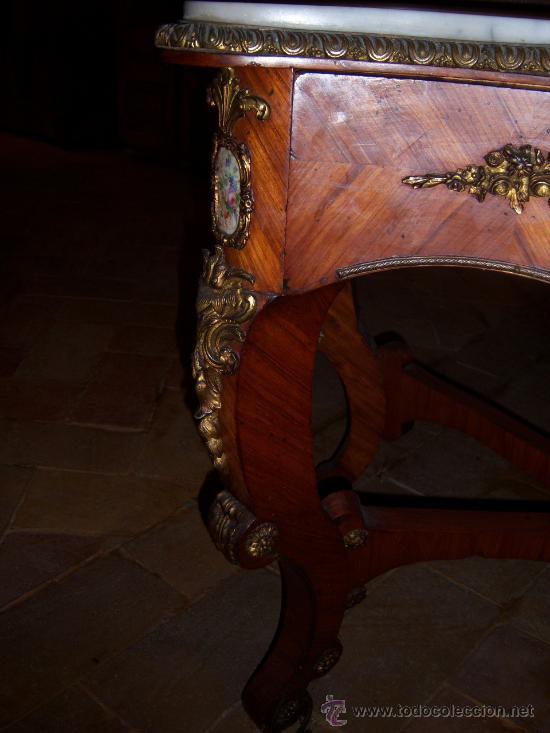 Antigüedades: tocador finales del s.xix con porcelana de sevres - Foto 4 - 27140562