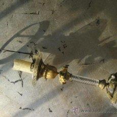 Antigüedades: ANTIQUÍSIMO CANDELABRO CRISTAL Y BRONCE---JOYA. Lote 26604831