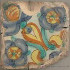 Antigüedades: AZULEJO DE MANISES, VALENCIA (SIGLO XVII). Lote 23850651