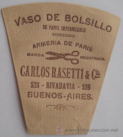INTERESANTE VASO DE BOLSILLO-PUBLICITARIO DE UNA ARMERIA DE BUENOS AIRES.. ENVIO GRATIS¡¡¡¡ (Antigüedades - Varios)