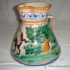 Antigüedades: JARRA PINTADA A MANO DE TALAVERA, NIVEIRO. SELLO EN BASE.. Lote 27543101