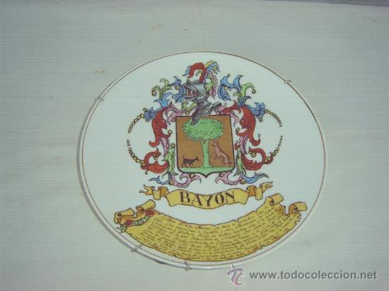 PLATO PORCELANA BAYON (Antigüedades - Porcelanas y Cerámicas - Alcora)