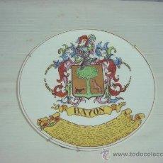 Antigüedades: PLATO PORCELANA BAYON. Lote 10332204