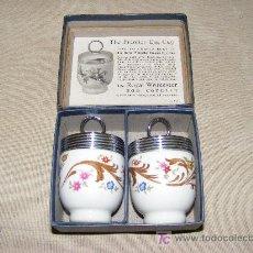 Antigüedades: HUEVERAS DE PORCELANA INGLESAS . Lote 26450870