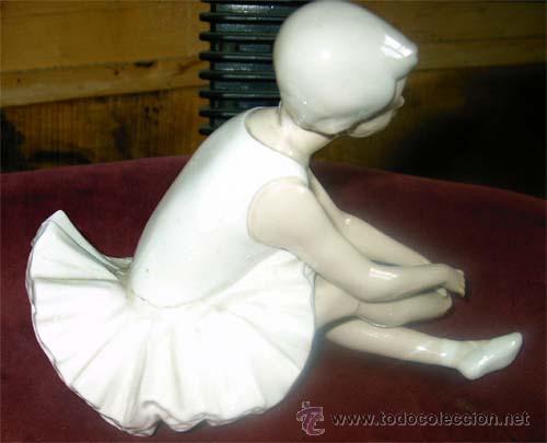 Antigüedades: Figura de bailarina de Nao. Falta trozo de pie. Medidas - Foto 4 - 21067416