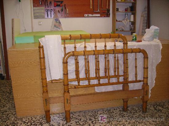 Cama de madera de haya imitando a ca a comprar camas - Camas de madera antiguas ...