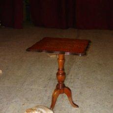 Antigüedades: VELADOR CON MARQUETERIA. Lote 26501143